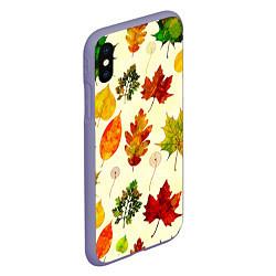 Чехол iPhone XS Max матовый Осень цвета 3D-серый — фото 2