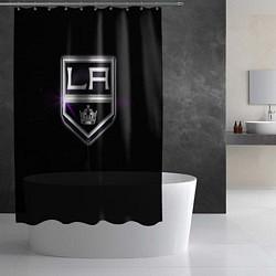 Шторка для душа Los Angeles Kings цвета 3D — фото 2