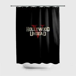 Шторка для душа Hollywood Undead V цвета 3D-принт — фото 1