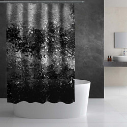 Шторка для душа Чёрно белый цвет цвета 3D — фото 2