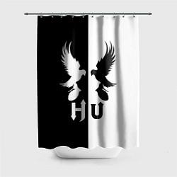 Шторка для душа HU: Black & White цвета 3D-принт — фото 1