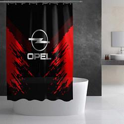 Шторка для душа Opel: Red Anger цвета 3D-принт — фото 2