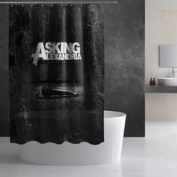Шторка для душа Asking Alexandria: Black Micro цвета 3D-принт — фото 2