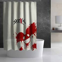 Шторка для душа Skrillex ft. Deadmau5 цвета 3D-принт — фото 2