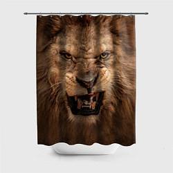 Шторка для душа Взгляд льва цвета 3D — фото 1