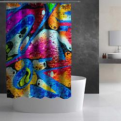 Шторка для душа Граффити цвета 3D — фото 2
