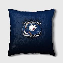 Подушка квадратная Toronto Maple Leafs цвета 3D-принт — фото 1