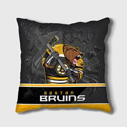 Подушка квадратная Boston Bruins цвета 3D-принт — фото 1