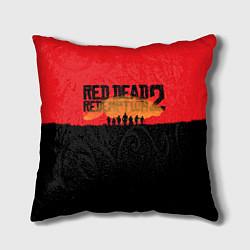 Подушка квадратная Red Dead Redemption 2 цвета 3D-принт — фото 1