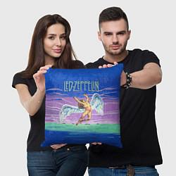 Подушка квадратная Led Zeppelin: Angel цвета 3D-принт — фото 2