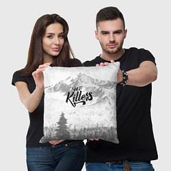Подушка квадратная The Killers: Alpen цвета 3D — фото 2