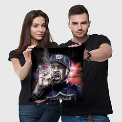 Подушка квадратная Ice Cube: Big boss цвета 3D-принт — фото 2