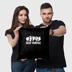 Подушка квадратная Deep Purple цвета 3D — фото 2