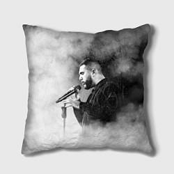 Подушка квадратная Jah Khalib: Black mist цвета 3D-принт — фото 1