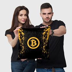Подушка квадратная Bitcoin Master цвета 3D-принт — фото 2