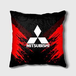 Подушка квадратная Mitsubishi: Red Anger цвета 3D-принт — фото 1