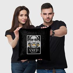 Подушка квадратная ASAP Rocky: Gold Edition цвета 3D — фото 2