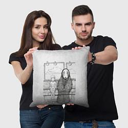 Подушка квадратная Унесенные призраками цвета 3D-принт — фото 2
