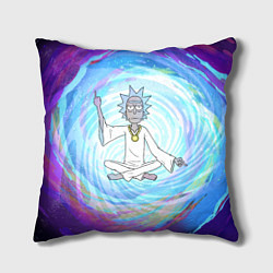 Подушка квадратная Rick in Nirvana цвета 3D — фото 1