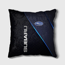 Подушка квадратная SUBARU цвета 3D-принт — фото 1