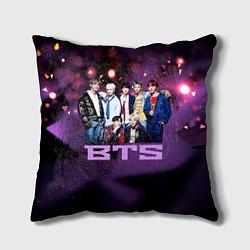 Подушка квадратная BTS цвета 3D-принт — фото 1