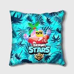 Подушка квадратная BRAWL STARS TROPICAL SPROUT цвета 3D — фото 1