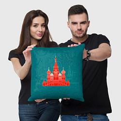 Подушка квадратная Москва цвета 3D-принт — фото 2