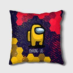 Подушка квадратная AMONG US АМОНГ АС цвета 3D — фото 1