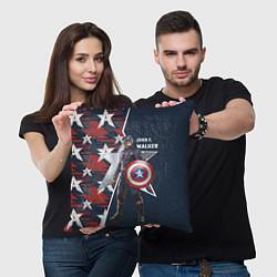 Подушка квадратная Marvel Капитан Америка цвета 3D — фото 2