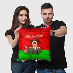 Подушка квадратная Belarus: Lukashenko цвета 3D-принт — фото 2
