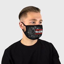 Маска для лица ФСБ: герб РФ цвета 3D-принт — фото 1