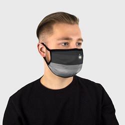 Маска для лица ФК Интер: Серый стиль цвета 3D-принт — фото 1