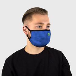 Маска для лица Сборная Швеции: Гостевая ЧМ-2018 цвета 3D — фото 1