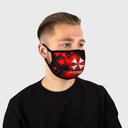 Маска для лица UMBRELLA CORP цвета 3D-принт — фото 1