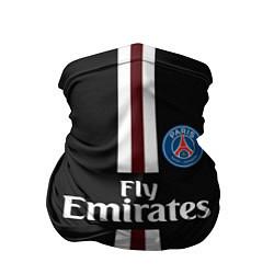 Бандана-труба PSG FC: Black 2018 цвета 3D-принт — фото 1
