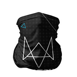 Бандана-труба Watch Dogs 2: Tech Geometry цвета 3D-принт — фото 1