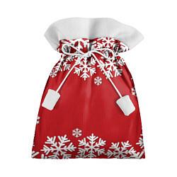 Мешок для подарков Снежинки цвета 3D-принт — фото 1