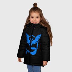 Куртка зимняя для девочки Pokemon Blue Team цвета 3D-черный — фото 2