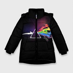 Куртка зимняя для девочки Покемоны цвета 3D-черный — фото 1