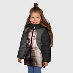 Куртка зимняя для девочки Конор Макгрегор цвета 3D-черный — фото 2
