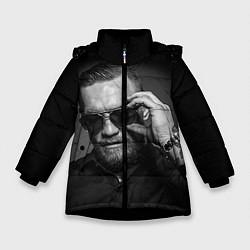 Куртка зимняя для девочки Стильный Макгрегор цвета 3D-черный — фото 1
