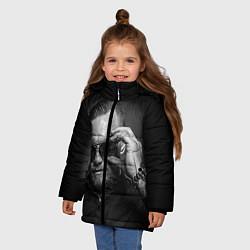 Детская зимняя куртка для девочки с принтом Стильный Макгрегор, цвет: 3D-черный, артикул: 10102382606065 — фото 2