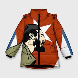 Куртка зимняя для девочки Куба цвета 3D-черный — фото 1