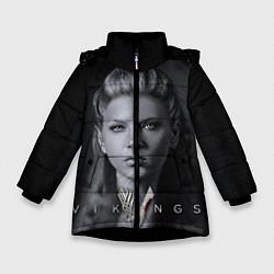 Куртка зимняя для девочки Vikings: Ladgerda цвета 3D-черный — фото 1