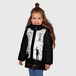 Куртка зимняя для девочки Twenty One Pilots: Lines цвета 3D-черный — фото 2