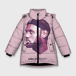Куртка зимняя для девочки LeBron James: Poly Violet цвета 3D-черный — фото 1