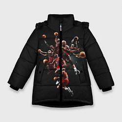 Куртка зимняя для девочки Michael Jordan Style цвета 3D-черный — фото 1
