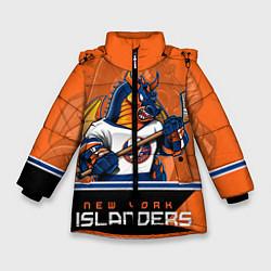 Куртка зимняя для девочки New York Islanders цвета 3D-черный — фото 1