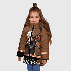 Куртка зимняя для девочки Anaheim Ducks цвета 3D-черный — фото 2