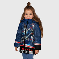 Куртка зимняя для девочки Winnipeg Jets цвета 3D-черный — фото 2